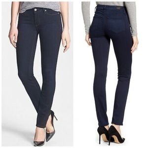 Paige Skyline Skinny Jeans in Dark Chelsea Wash